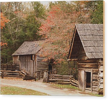 Cades Cove Grist Mill Wood Print by TnBackroadsPhotos