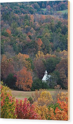 Wood Print featuring the photograph Cades Cove Methodist  Church by Tyson and Kathy Smith
