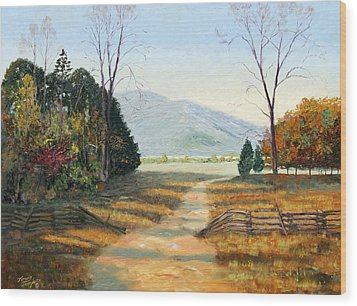 Cades Cove Wood Print by Tommy Thompson