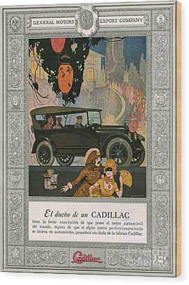 Cadillac 1920 1920s Usa Cc Cars Wood Print by The Advertising Archives