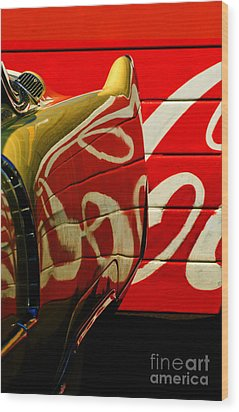 Cadillac And Coke Wood Print