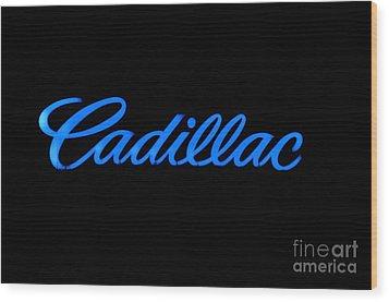 Cadillac Wood Print by Andres LaBrada