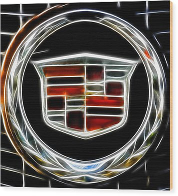 Cadillac Emblem B Wood Print