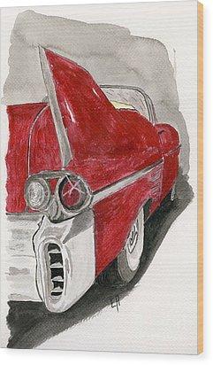 Cadillac Wood Print by Eva Ason