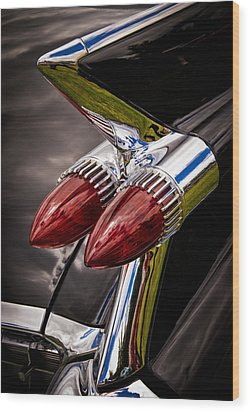 Cadillac Fin Wood Print by Phil 'motography' Clark