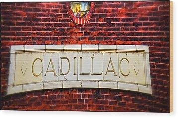 Cadillac Wood Print by LeeAnn McLaneGoetz McLaneGoetzStudioLLCcom