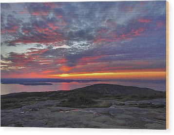 Cadillac Mountain Sunrise 2 Wood Print
