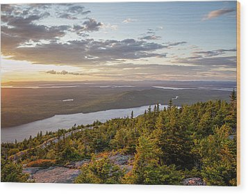 Wood Print featuring the photograph Cadillac Mountain Sunset  by Trace Kittrell