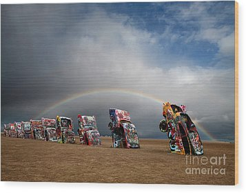 Cadillac Ranch Wood Print by Keith Kapple