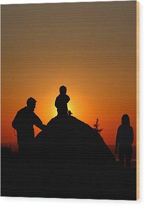 Cadillac Sunset Wood Print by Acadia Photography