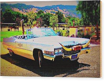 Cadillac Supreme Wood Print by Jodie  Scheller