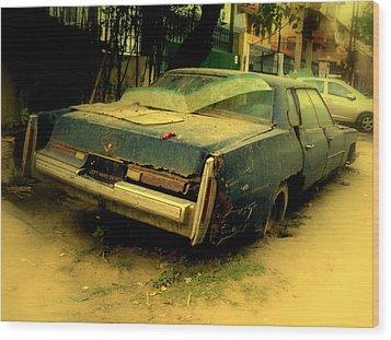 Wood Print featuring the photograph Cadillac Wreck by Salman Ravish