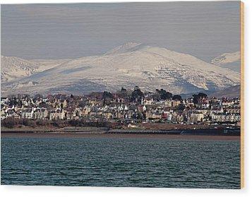 Caernarfon From The Menai Strait Wood Print by Ollie Taylor