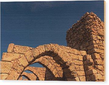 Caesarea Wood Print by David Gleeson