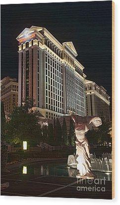 Caesar's Palace Wood Print by Eddie Yerkish