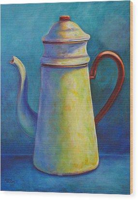 Cafe Au Lait Wood Print by Shannon Grissom