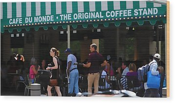 Cafe Cafe  Wood Print by Kenneth Feliciano