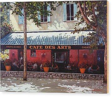 Cafe Des Arts   Wood Print by Michael Swanson