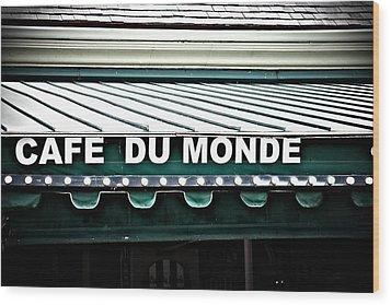 Cafe Du Monde Wood Print