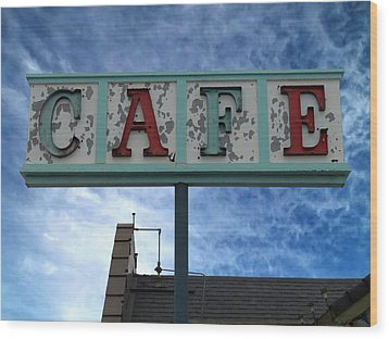 Cafe Wood Print by Glenn McCarthy Art and Photography