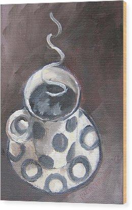 Cafe Noir Wood Print by Susan Richardson