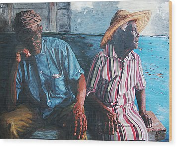 Caicos Time Wood Print by John Matthew