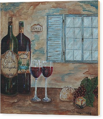 Cain Vineyards And Kennedy Meadows Wood Print