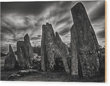 Cairn Holy 1 Wood Print by Derek Beattie