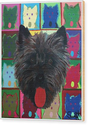 Cairn Terrier Wood Print by Char Swift