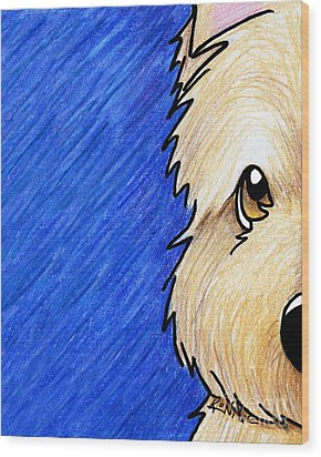 Cairn Terrier Up Close Wood Print by Kim Niles