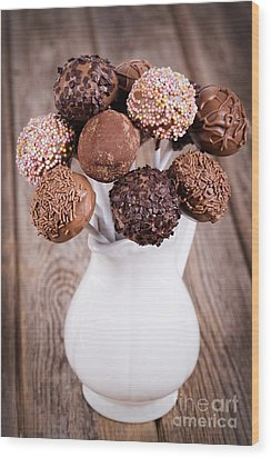 Cake Pops Wood Print by Jane Rix