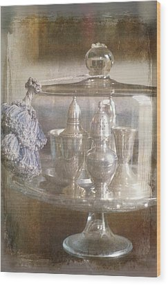 Cake Stand With Tassel Wood Print by Suzanne Powers