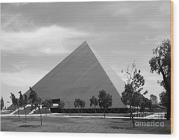 Cal State University Long Beach Walter Pyramid Wood Print by University Icons