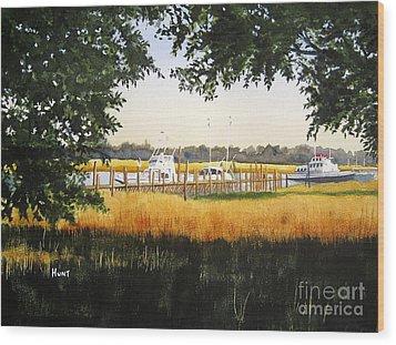 Calabash Pier Wood Print