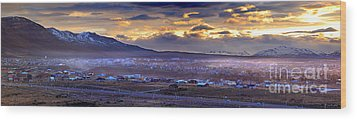 Calafate Panoramic Wood Print by Bernardo Galmarini