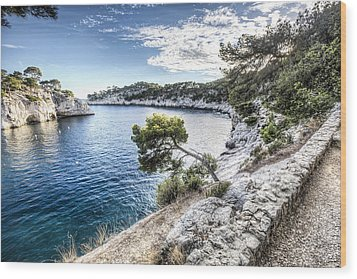 Calanque De Port Miou, France Wood Print