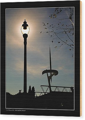 Wood Print featuring the photograph Calatrava Tower Backlight by Pedro L Gili