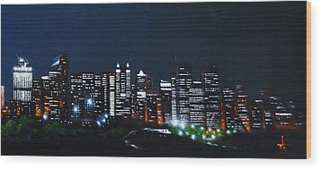 Calgary Canada No Moon Wood Print