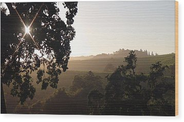 Wood Print featuring the photograph Cali Sun Set by Shawn Marlow