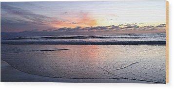 Cali Sunset Wood Print by Julia Ivanovna Willhite