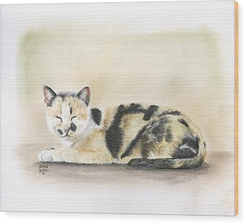 Calico Wood Print by Heather Gessell
