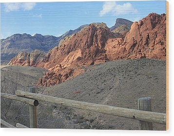 Wood Print featuring the photograph Calico Hills Az by Kathleen Scanlan