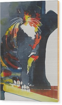 Calico Suncatcher Wood Print by Chere Force