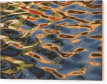 Wood Print featuring the photograph Calico Waters by Lorenzo Cassina