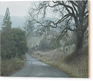 California Back Country Road Wood Print by Judy  Johnson