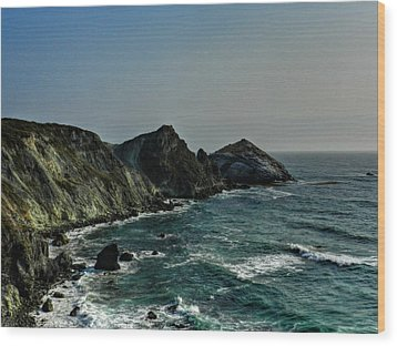 California - Big Sur 010 Wood Print by Lance Vaughn