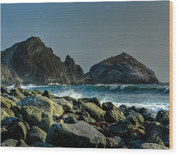 California - Big Sur 013 Wood Print by Lance Vaughn