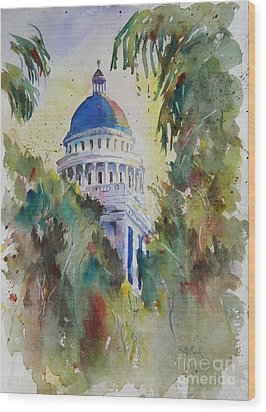 California Capitol Building Wood Print