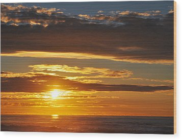 Wood Print featuring the photograph California Central Coast Sunset by Kyle Hanson