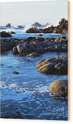 Wood Print featuring the photograph California Coast 4 by Theresa Ramos-DuVon